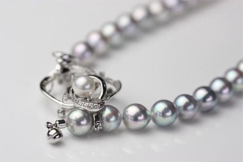 和珠グレーカラー真珠ネックレス
