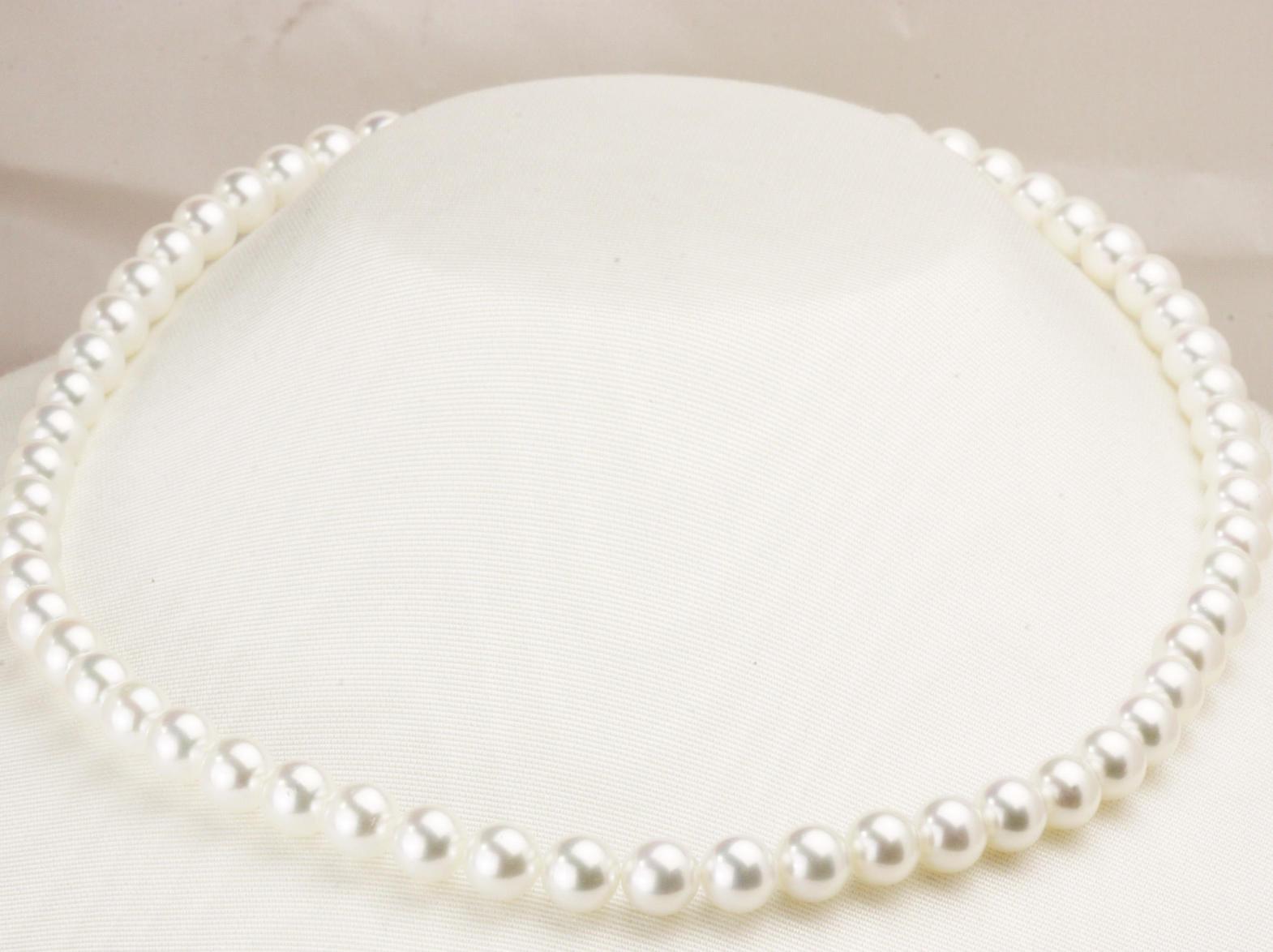 最上級の輝き オーロラ花珠真珠ネックレス7.5㎜