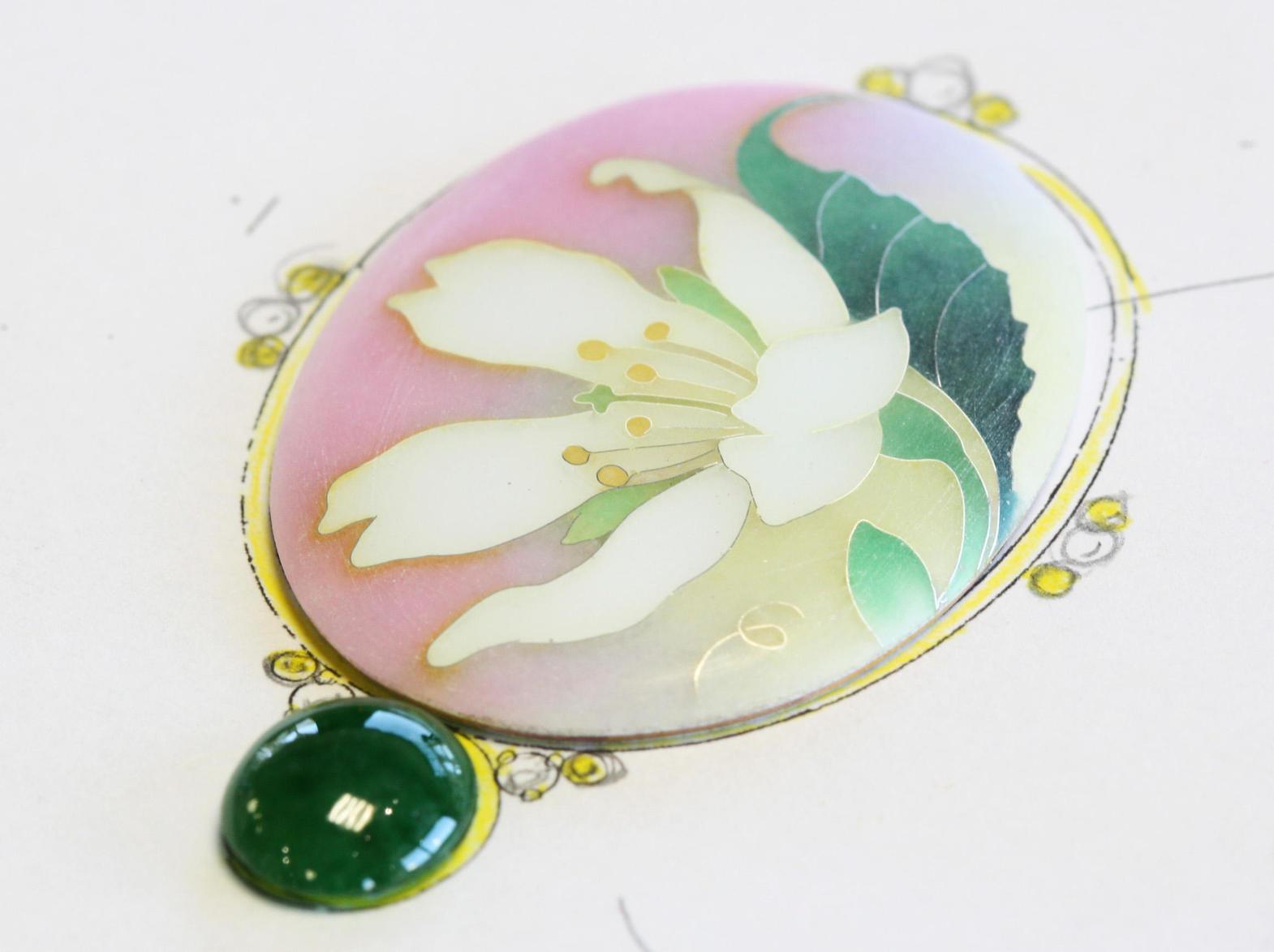山桜の七宝ペンダント「梅鉢桜」ご注文頂きました!
