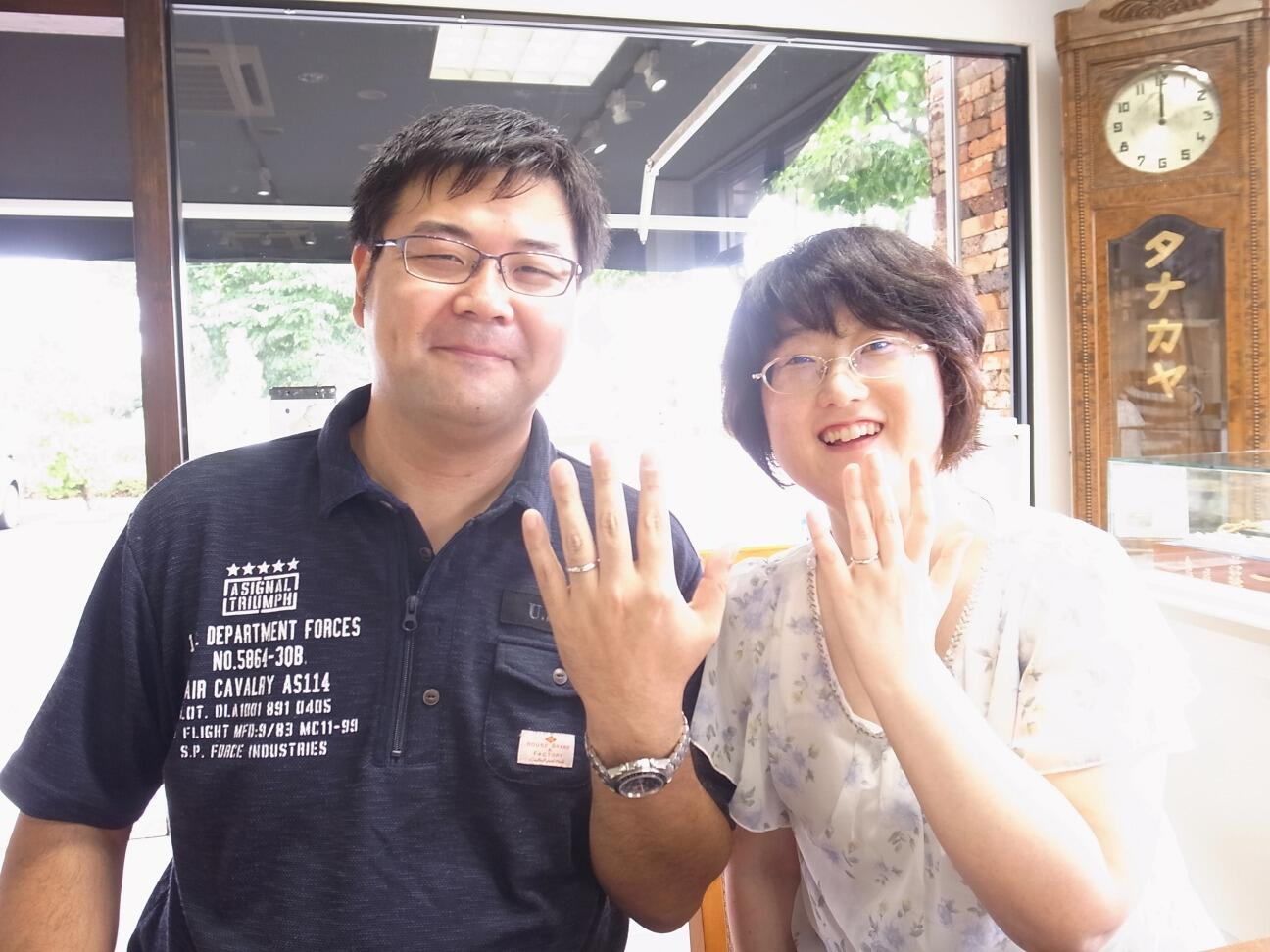 グリーンガーネットの結婚指輪