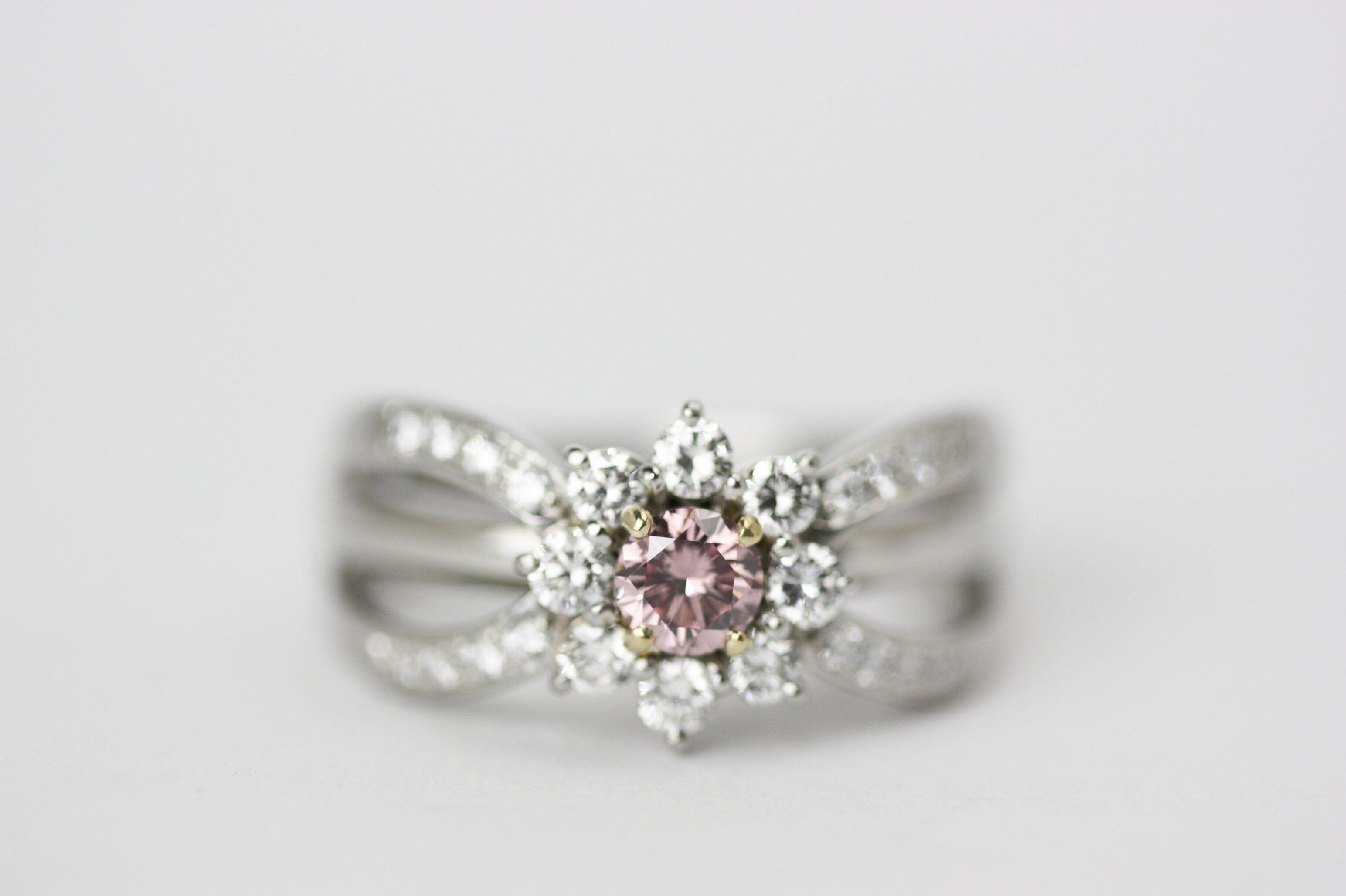 ピンクダイヤリングの修理