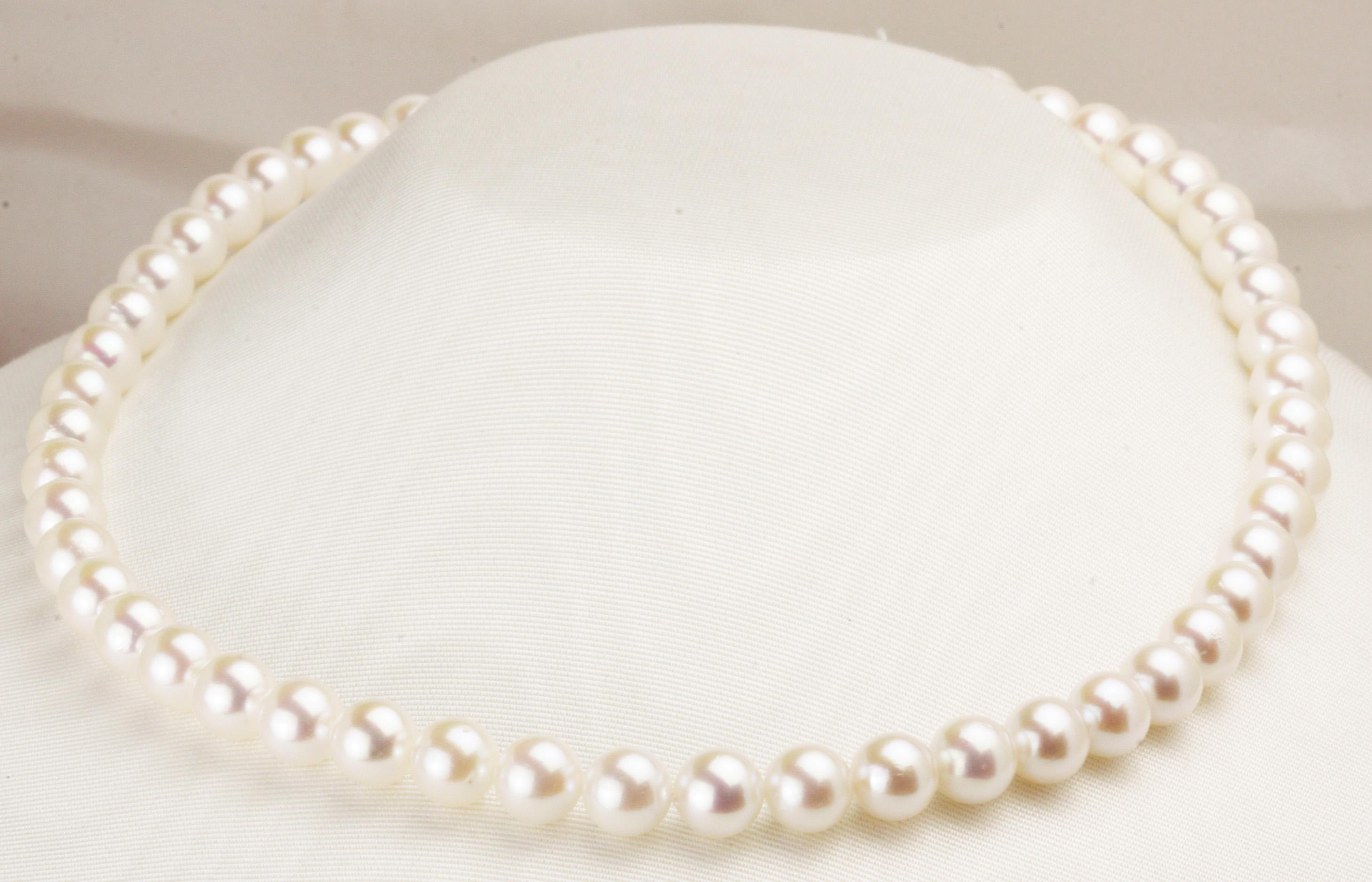 今が買替えの大チャンスです!8.5㎜の「大珠」本真珠ネックレス!