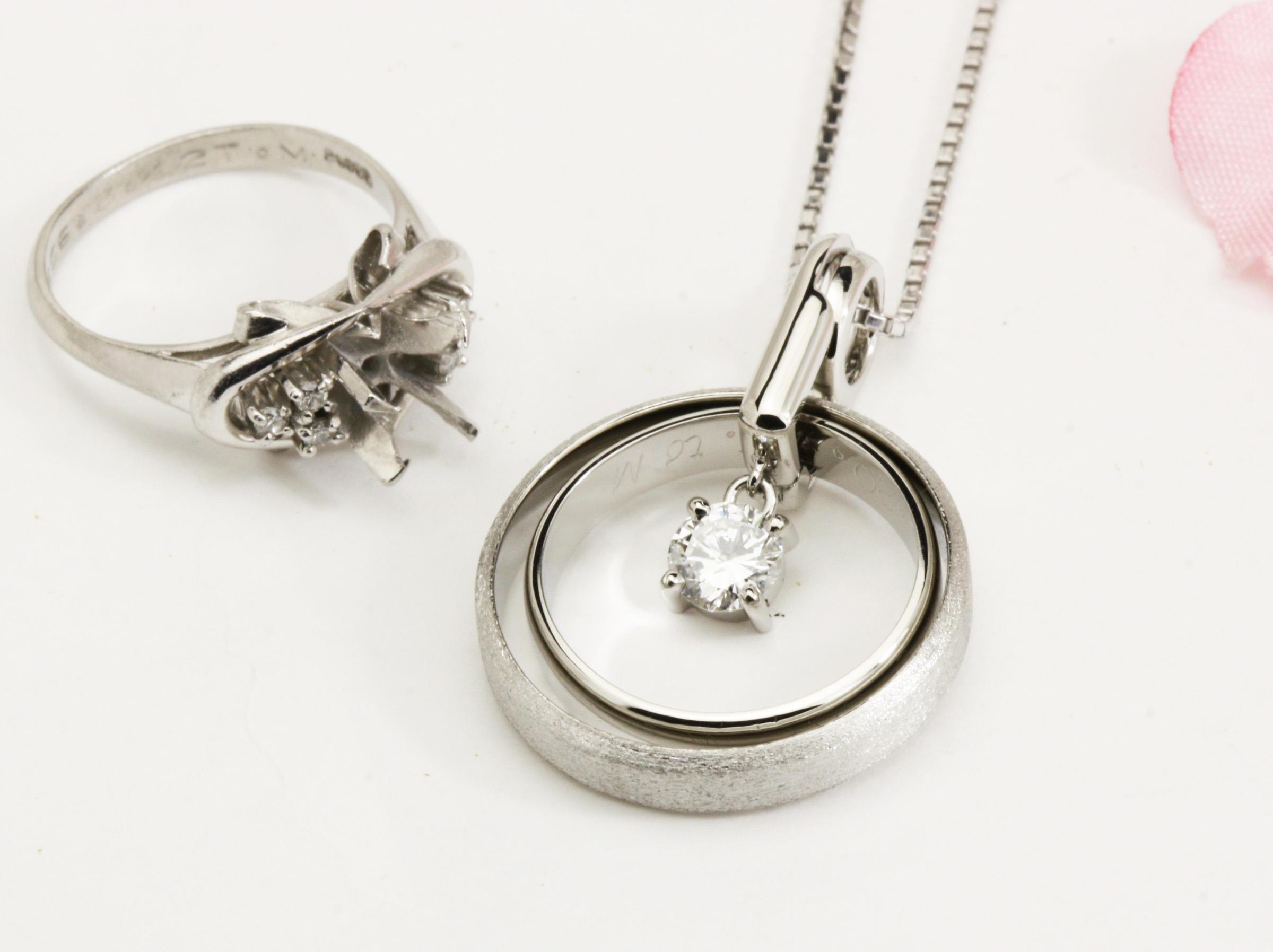 優れもの~結婚指輪と婚約リングの3点リフォーム