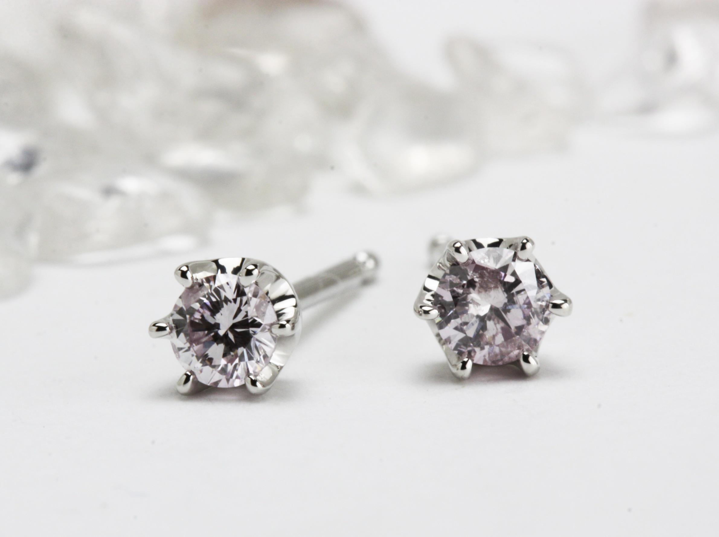 ピンクダイヤモンドのピアスオーダー