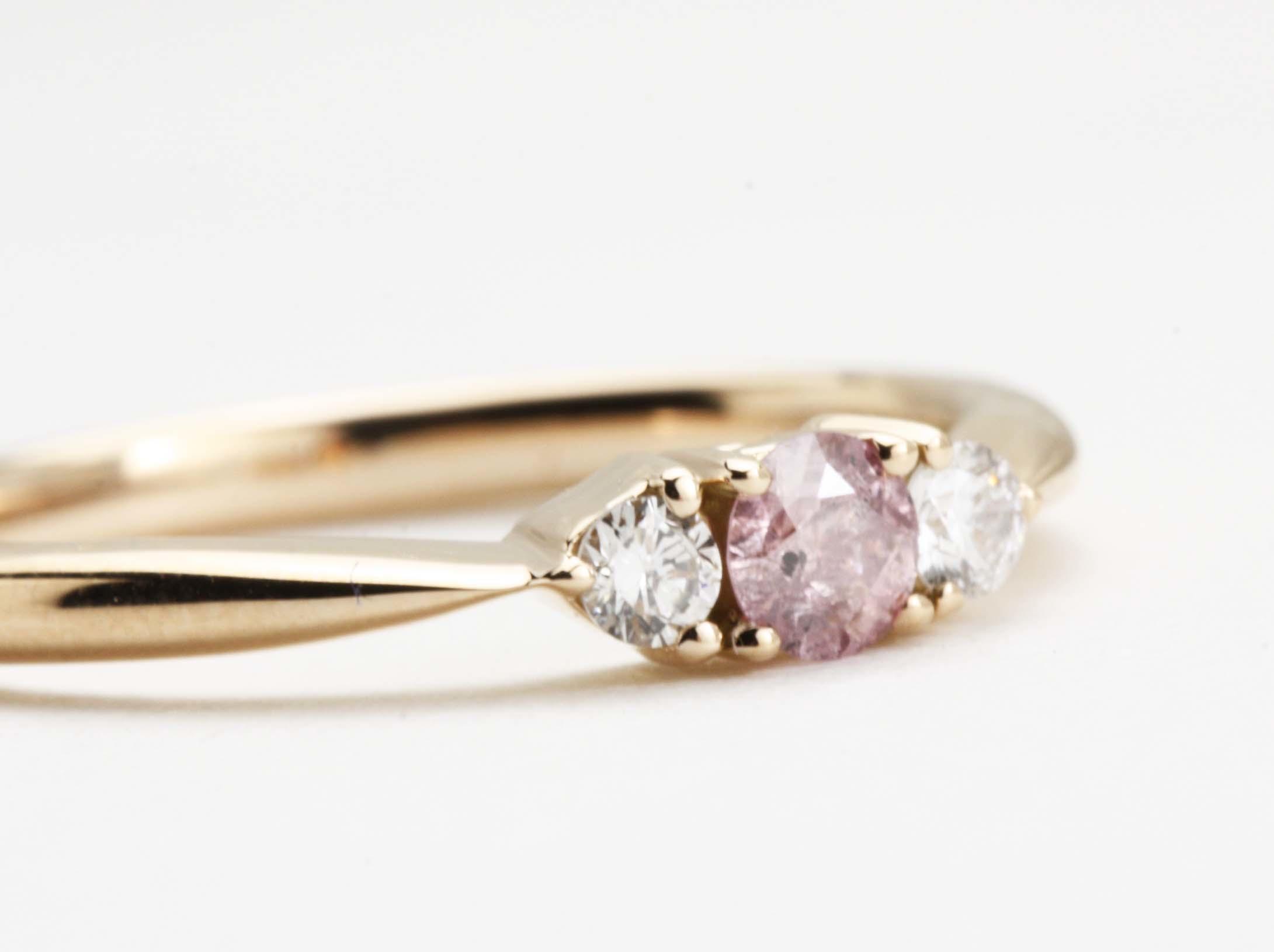 ピンクダイヤのフッションリング