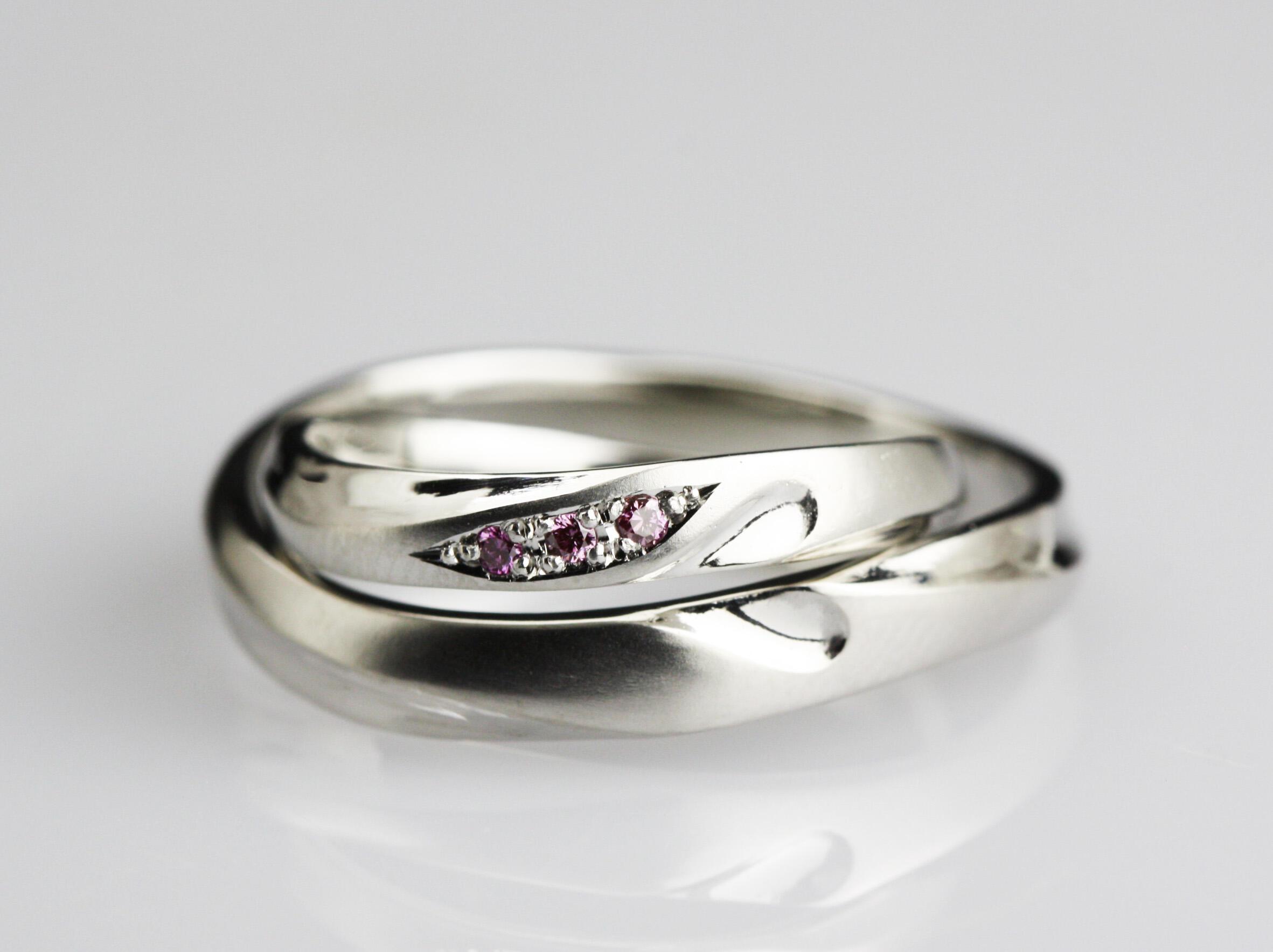ハート合わせの結婚指輪