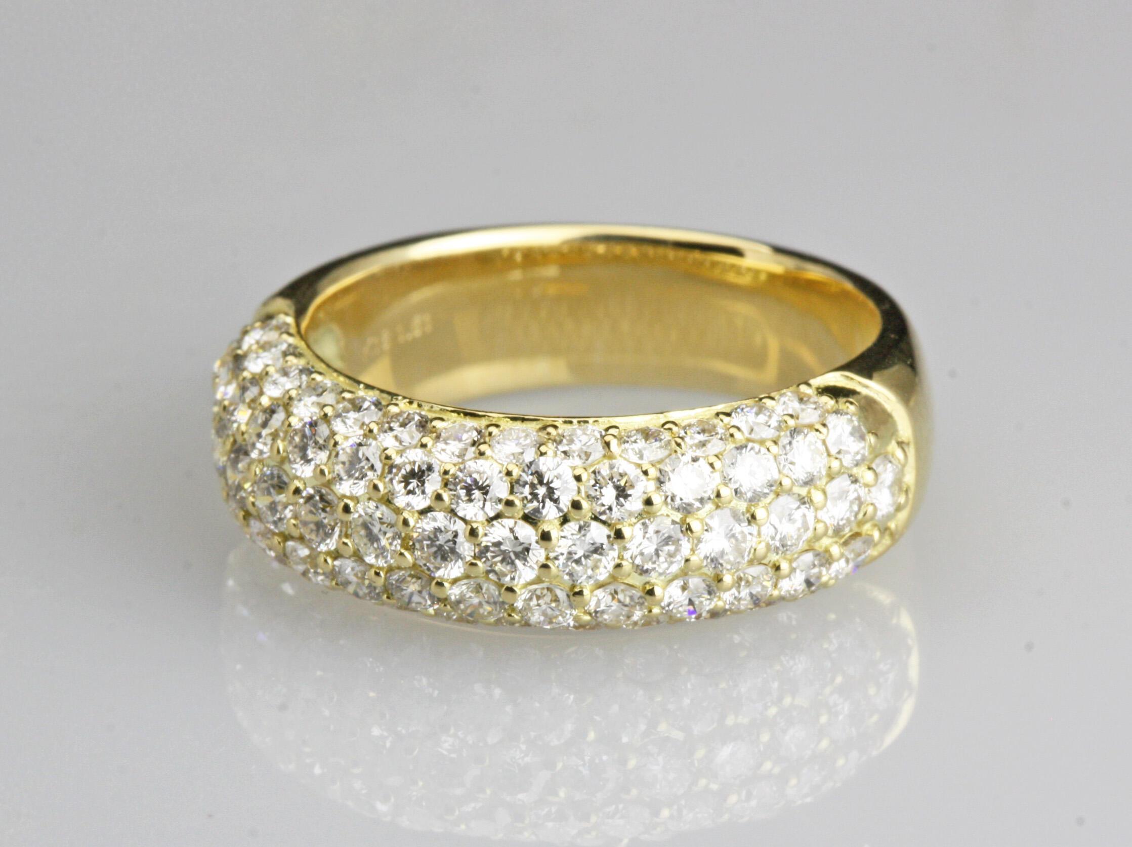 k18枠ダイヤモンド1.61ctパべリング