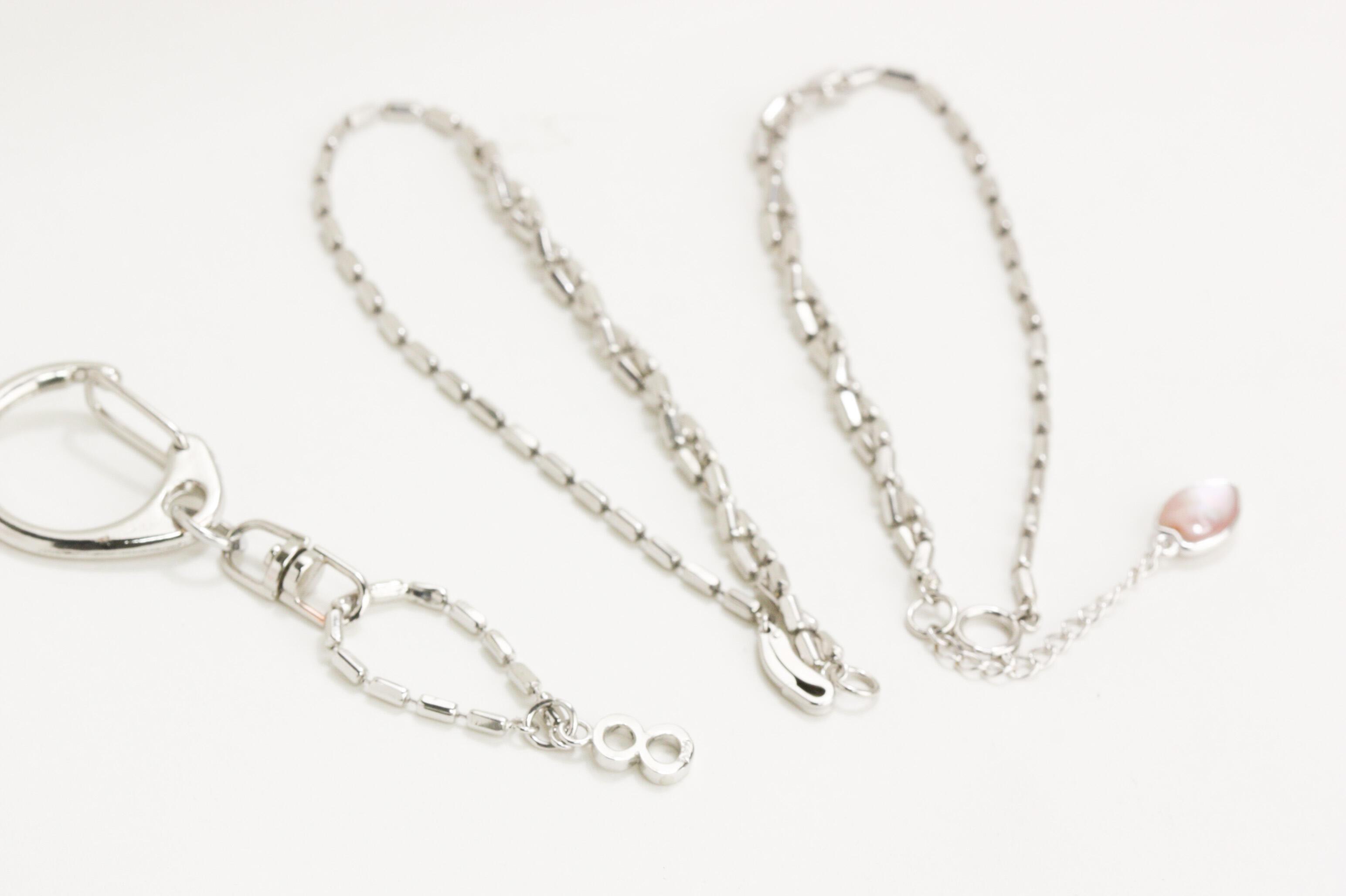 プラチナ製ネックレスをブレスに改作