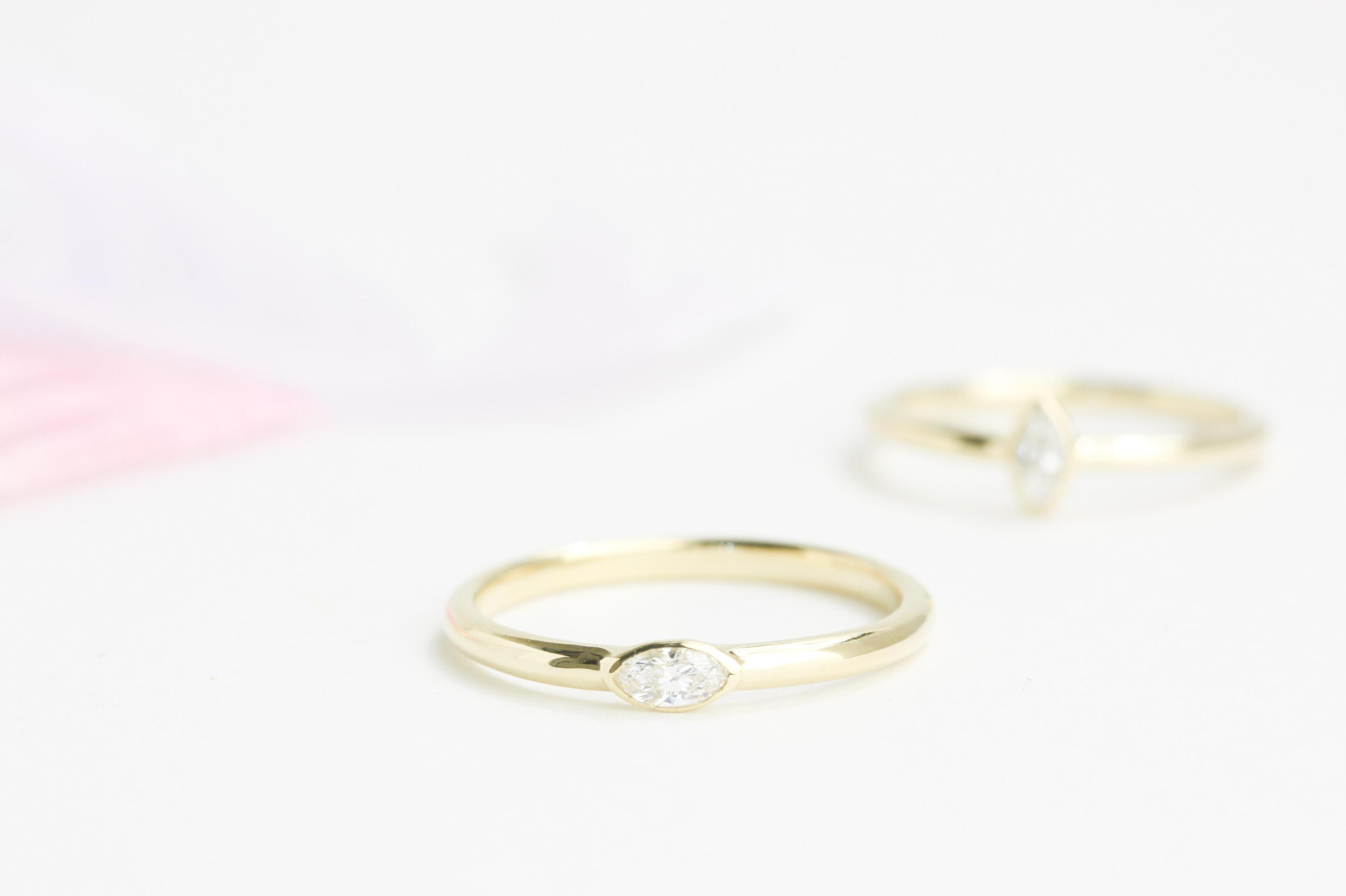 マーキスカットダイヤモンド(横使い)リフォーム(リメイク)