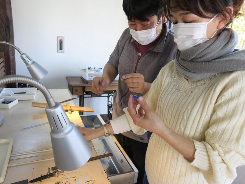 自分達で作る手作り指輪制作★桜川生粋のナイスガイと乙姫様