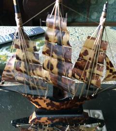 帆船の帆からべっ甲の板を作成