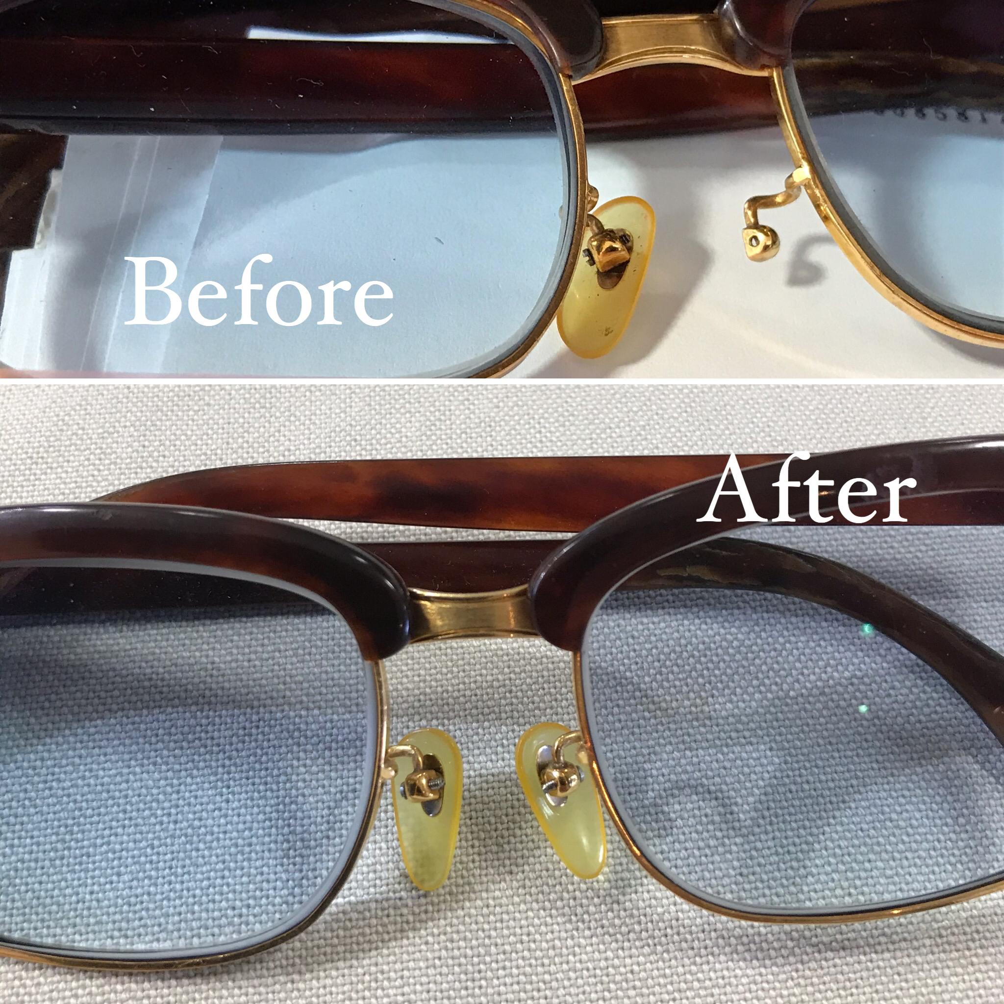 ベッコウのメガネ・鼻パットの交換